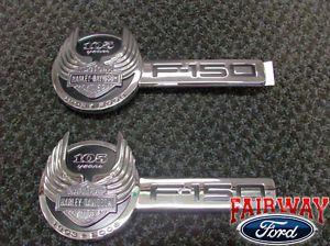 2008 08 F 150 F150 Genuine Ford Parts Harley Davidson Fender Emblems Pair