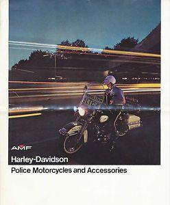 1970s Harley Davidson Police Motorcycle Accessories Sales Brochure Book