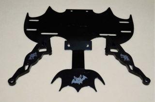 Ml Bat Batman Universal Chrome Motorcycle motorbike License Plate Frame Black