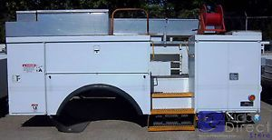 Utility Body Chip Box Bed for Bucket Service Trucks Cranes Digger Derricks
