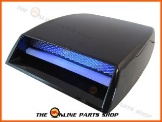 Universal Intake Bonnet Scoop Blue LED Lights Ideal for Cars with A Body Kit
