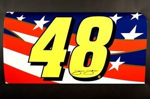 Jimmie Johnson NASCAR Race Car Door Sports Memorabilia Sheet Metal Collectible