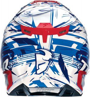 Thor Verge Twist Helmet MX Motocross Offroad Motorcycle Blue White Red