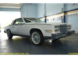 Classic 1984 Cadillac Eldorado Biarritz V8 Automatic Low Miles Clean A C Leather