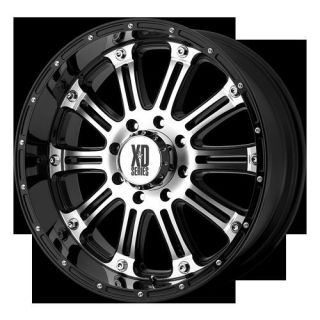"""17"""" XD795 Hoss Machined Black Rims 295 70 17 Toyo Open Country MT Tires Wheels"""