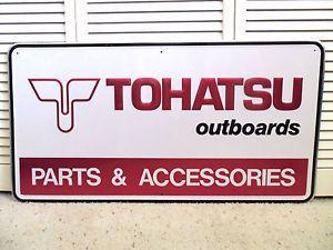 Vintage Tohatsu Outboards Parts Sign Boat Motors Garage Repair Shop Engines