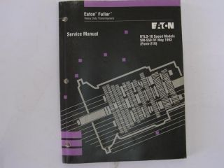 Eaton Fuller Heavy Duty Transmissions Service Manual