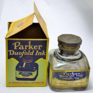 Vintage Parker Duofold Fountain Pen Ink Bottle in Box