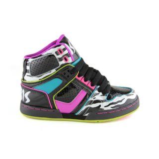 f1e752f7e5 YouthTween Osiris NYC 83 Slim Skate Shoe, Black Purples Kidz