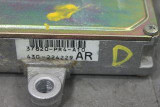 90 91 Acura Integra MT ECU ECM Engine Computer Control Unit 37820 PR4 A10 D