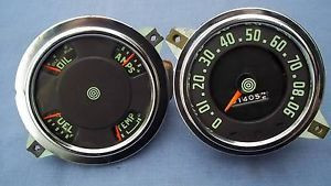 International Truck Speedometer and 4 Gauge Cluster Stewart Warner