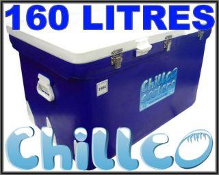 160L Chillco Ice Box Esky Cooler Chilly Bin Superior Ice Retention RRP$580