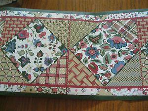 Country Sampler Patchwork Quilt Wall Wallpaper Border 48301 Tan Mauve Green Trim