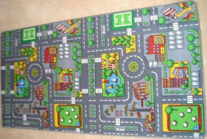 Extra Large Childrens Road Town Car Play Mat Rug New