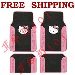 New Set Pink Hello Kitty Car Truck Carpet Floor Mats