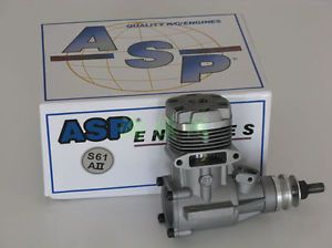 RC S61AII ASP 2 Stroke Glow Engine w Muffler RC Airplane Helicopter 10cc Motor