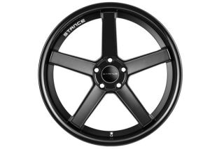 "19"" Scion FRS Stance SC5 SC 5IVE Black Concave Staggered Wheels Rims"