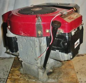 17 HP Twin II Briggs and Stratton Vertical Shaft Engine Motor Model 42A707 Clean