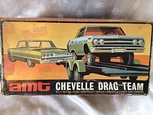 AMT Chevelle Drag Team 3 in 1 Kit Chevrolet Impala 1963 1965 Unassembled SMP