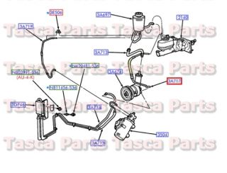 New Power Steering Pump to Booster Pressure Hose 6 8L V10 2003 04 Ford E450
