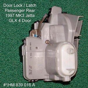 VW MK3 Jetta Golf Door Lock Latch Catch Central Locking PR 1HM862154C 1HM839016A