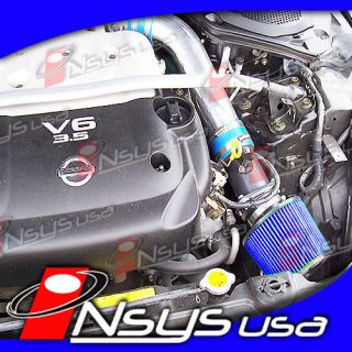 Nissan 350Z 350 Z Touring Coupe 3 5 3 5L V6 Air Intake 2003 2004 2005 2006 Blue