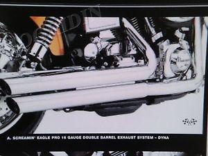 Harley Screamin Eagle 16 Gauge Double Barrel Dyna Wide Glide Exhaust 64768 04