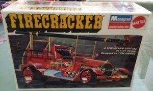 Hot Rod Fire Engine Model Firecracker Truck Monogrammattel SEALED Kit Tom Daniel