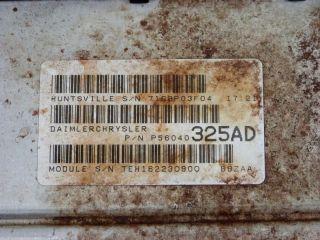 02 Dodge RAM Van 1500 2500 3500 5 9L ECU ECM PCM Engine Computer 56040325AD 325