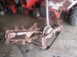 """Gravely 812 Tractor with 44"""" Crowley Trencher Gear Reduction Hubs Super RARE"""