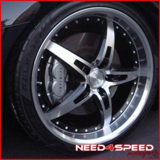 "20"" Nissan 350Z MRR GT5 Black Staggered Rims Wheels"
