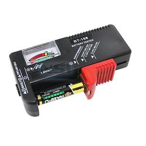 Universal AA AAA C D 9V 1 5V Button Coin Cell Battery Tester Volt Checker New