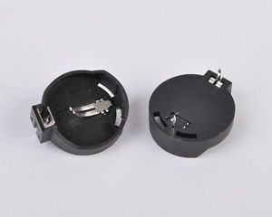 10pcs Button Coin Cell Battery Socket Holder Case Black CR2025 CR2032