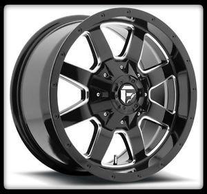 "20"" Fuel Frontier D535 Black Rims 35x12 50x20 Nitto Trail Grappler Tires Wheel"