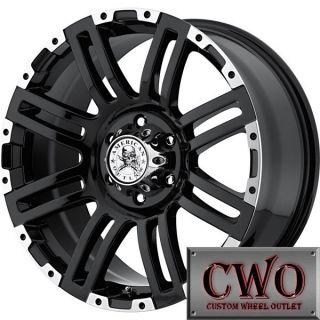 17 Black AO Bunker Wheels Rims 5x139 7 5 Lug Dodge RAM 1500 Dakota Durango