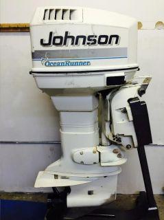 1999 Johnson 115 HP 2 Stroke Outboard Motor Boat Engine Water Ready Rebuilt 90