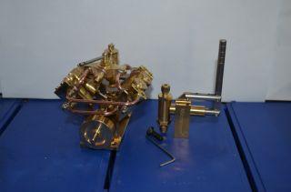 The 4 Cylinder Steam Engine M8 Live Steam Engine Boiler Hand Pump 2 Sets