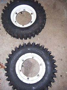 Gravely Walk Behind Wheels and Carlisle Tires 4 80 8 x Trac 2 Ply Snow Tires