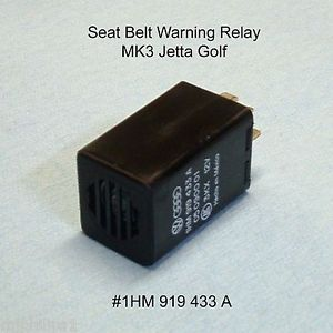 VW Audi MK3 Jetta Golf Seat Belt Warning System Relay 188 Chime 1HM919433A
