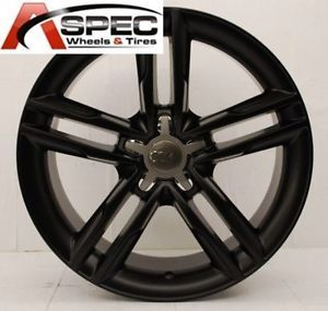 "18"" s Line Style Matt Black Wheel Fit Audi A4 B5 B6 B7 B8 A5 A6 Q5 5x112 Rims"