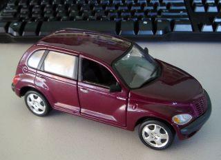 Chrysler Cruiser Burgundy Diecast Car Model 1 24 Die Cast Car by Maisto