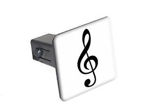 "Trebel Clef Music Symbol 1 25"" Tow Trailer Hitch Cover Plug Insert"