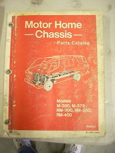 1969 1970 1971 1972 1973 Dodge motorhome M300 M375 RM300 RM350 RM400 Parts Book