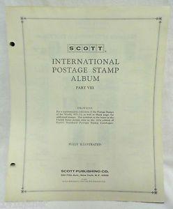 Scott International Stamp Album Pages Part 8 1971 1973 US Zambia Complete