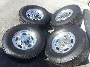 """Chevy GMC 16"""" 8 Lug Alloy Wheels Rims Tires 2500 3500 HD Silverado Sierra"""