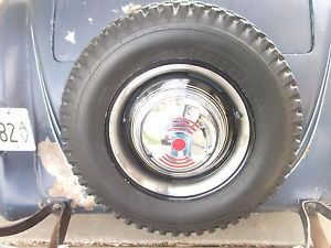 "2 40 Ford Wheels 16"" w Pin Strip Tires Scta Rat Rod Vintage Sprint Car"