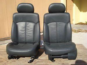 Black Leather Bucket Seats Chevy S10 Truck Blazer Sonoma Xtreme Power Street Rod