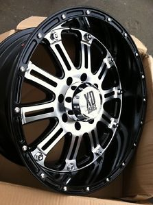 "20"" Black Machine Wheels Tires 8x165 Hummer 35 12 50 20 Nitto Trail Grappler"