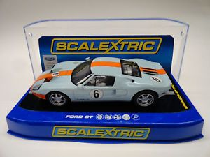 """Scalextric """"Heritage"""" Ford GT USA Exclusive LIGHTS1 32 Scale Slot Car C3324"""
