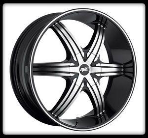 "20"" x 8 5"" Avenue A606 Black Wheels Rims 33x12 50x20 Nitto Mud Grappler Tires"